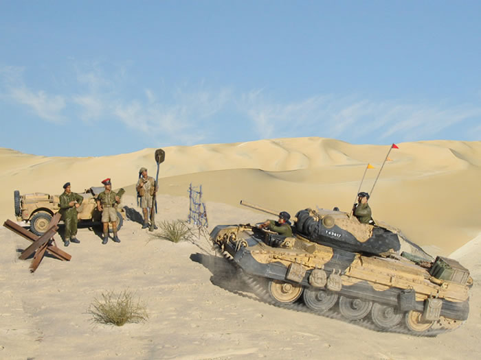 Breakthrough At El Alamein Diorama By Patrice Wandrol