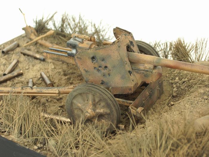 German 50 Mm Anti Tank Gun: Pak 40 75mm Anti-Tank Gun By Siim Suurakaev (Italeri 1/35