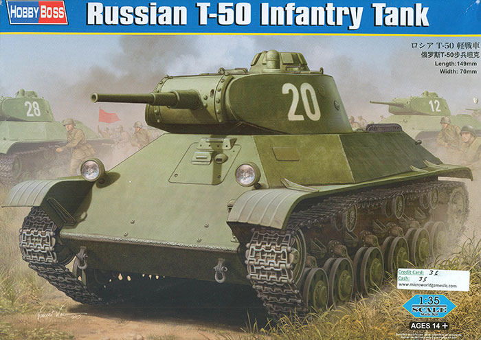 Hobbyboss 1 35 Scale Kit No 83827 Russian T 50 Infantry