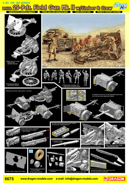 Dragon Models Limited 1/35 scale '39-'45 Series Kit No  6675