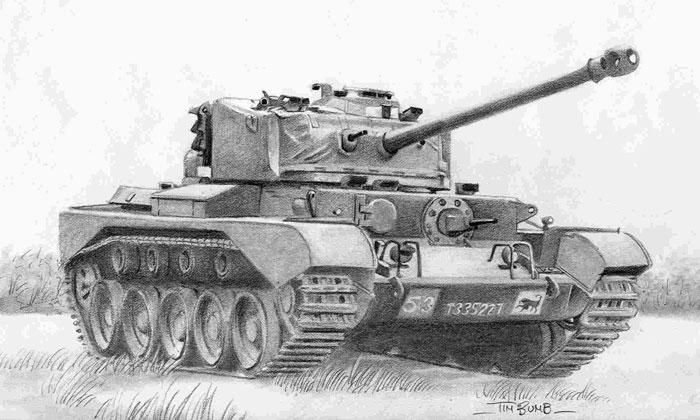 Comet Tank Artwork by Tim Bumb