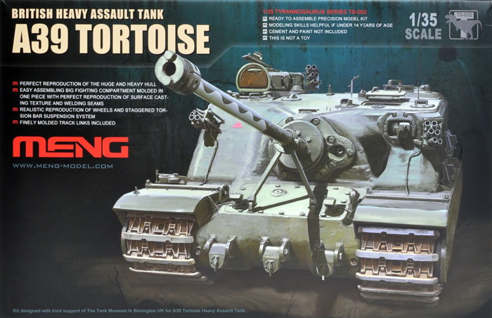 Meng Model TS-002 1//35 Bristish Heavy Assault Tank A39 Tortoise