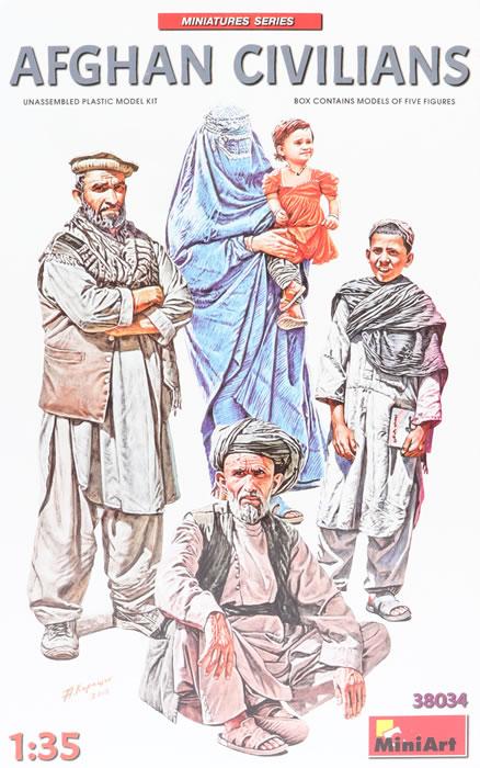 Afghan Civilians 1:35 Figure Plastic Model Kit MINIART
