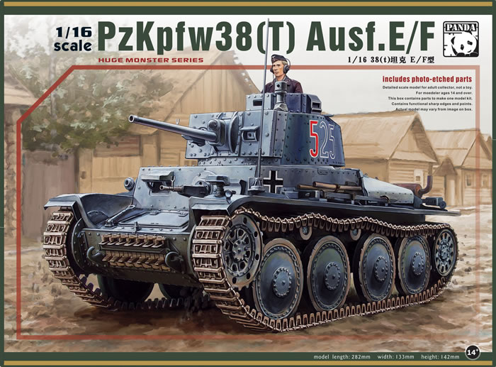 1/16 scale. Pz.Kpfw.38(t) PREVIEW