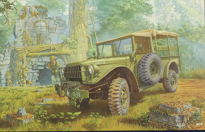 Roden 1/35 scale Kit No. 806; M37 US 3/4 Ton 4 x 4 Cargo ...