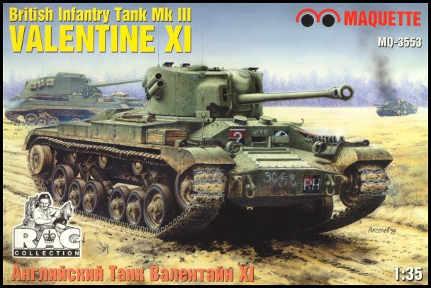Missing Links Maquette #MQ 3553 British Infantry Tank MkIII Valentine XI  Review