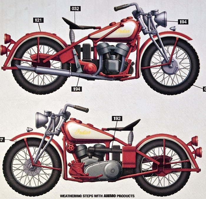 Thunder Models Kit No. 35003 - Indian Scout 741B US Military ...